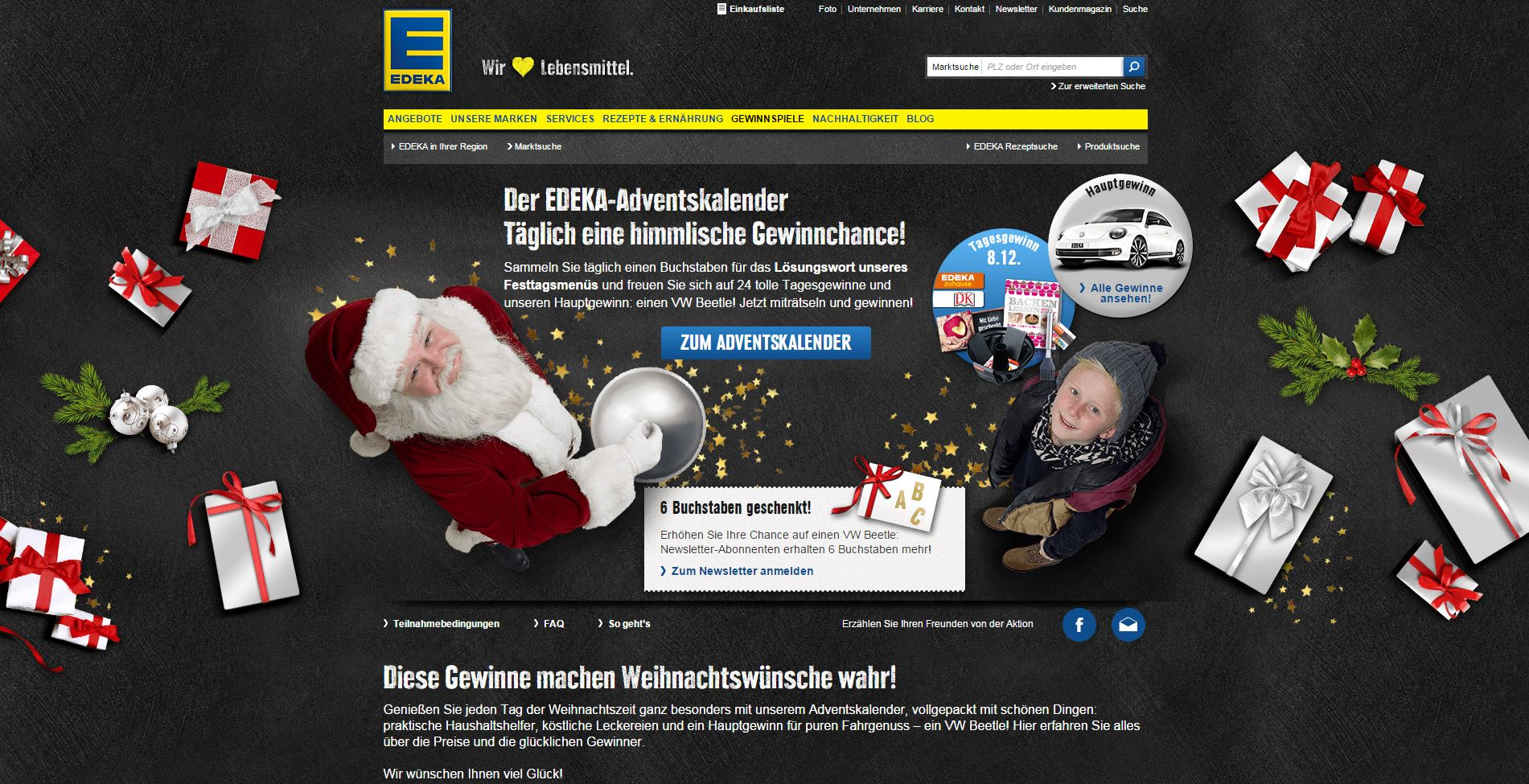 edeka adventskalender auto gewinnspiel. Black Bedroom Furniture Sets. Home Design Ideas