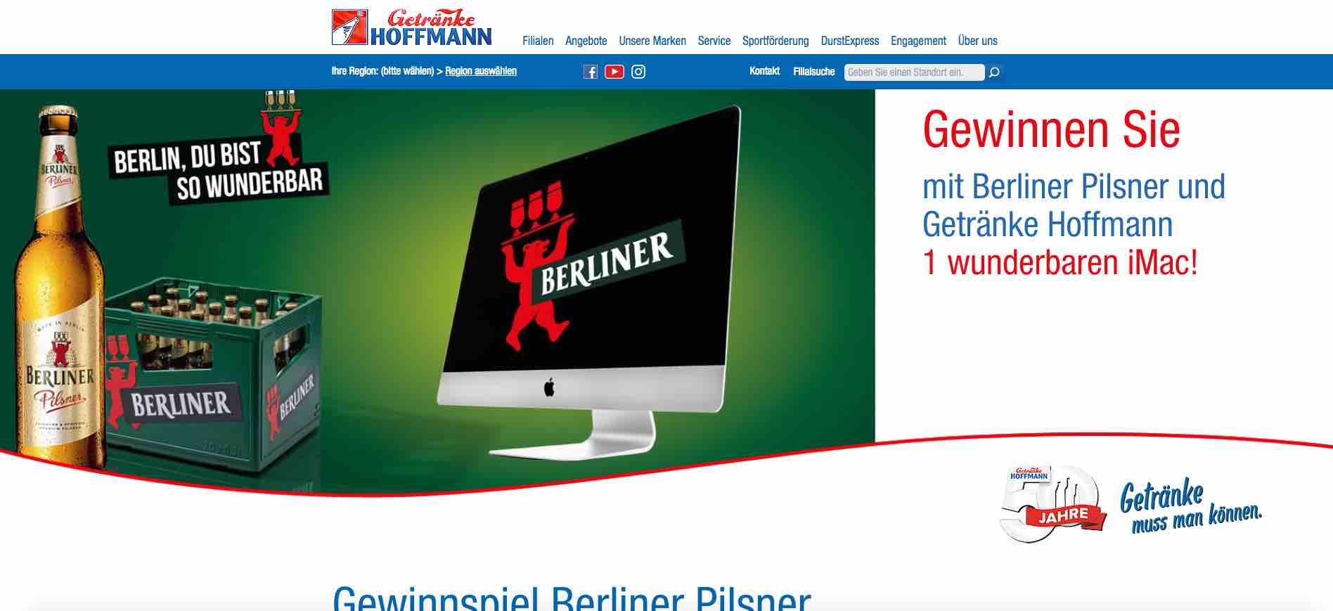 iMac Verlosung von Getränke Hoffmann und Berliner Pilsner