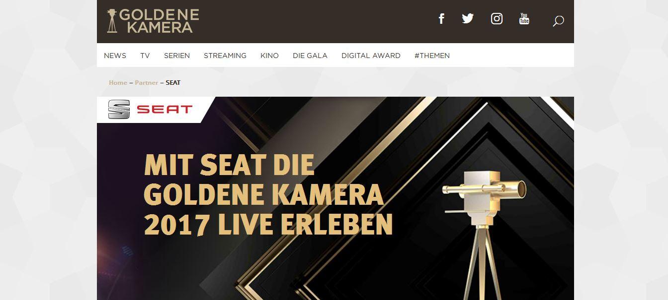 Goldene Kamera Gewinnspiel Von Seat Preisverleihung Live Erleben