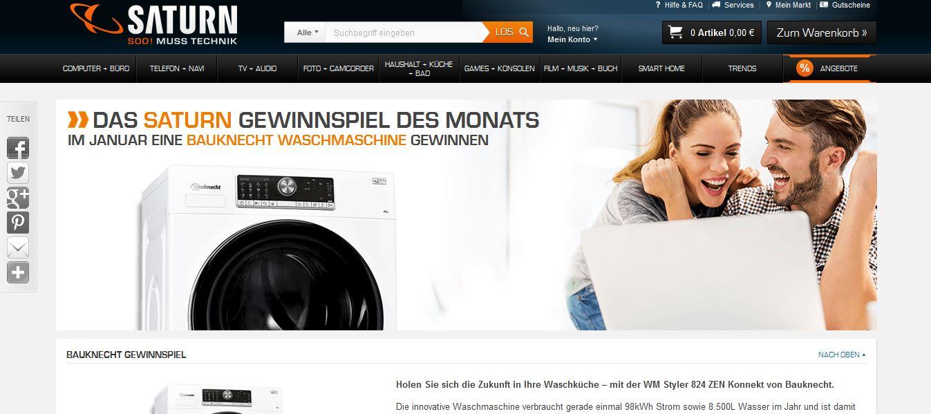 Waschmaschinen Gewinnspiel Von Saturn