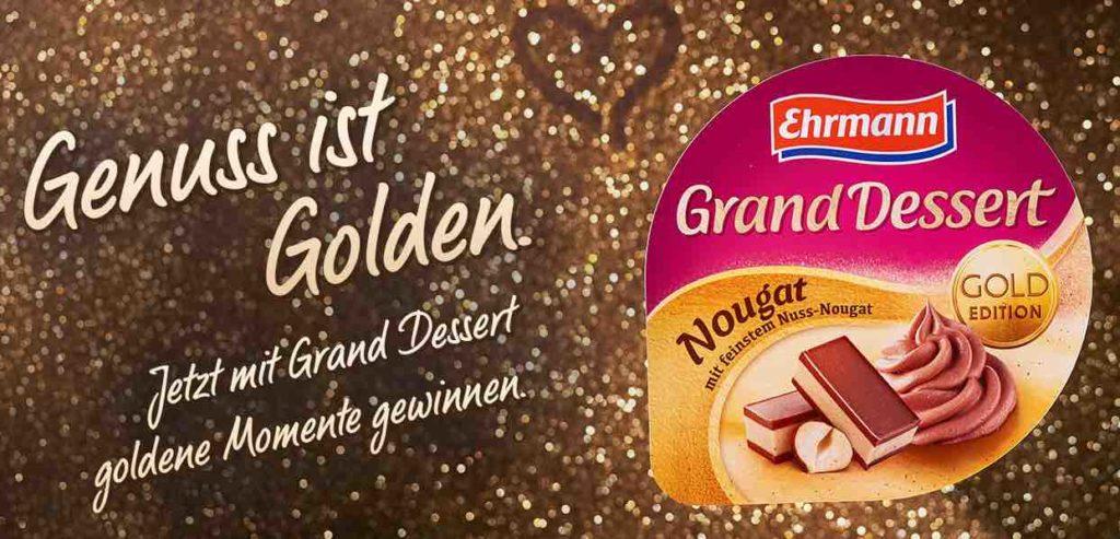 Ehrmann Das golden Dessert luxus Gewinnspiel