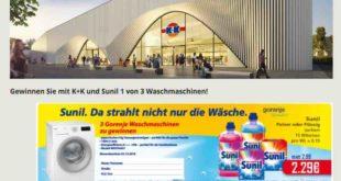 K+K verlost Sunil-Waschmaschinen