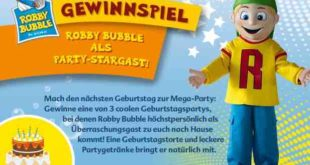 Rubby Bubble Gewinnspiel mit Überrschungsgast