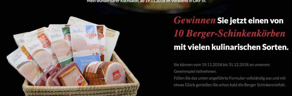 Berger Schinken Gewinnspiel