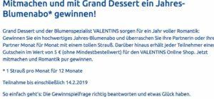 Ehrmann Valentinstag Gewinnspiel