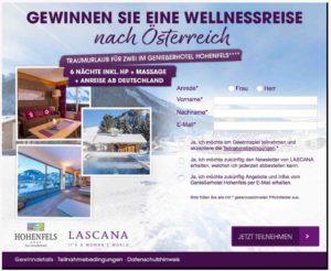 Lascana Wellnessreise Gewinnspiel