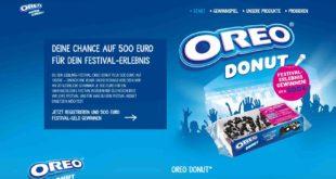 oreo donut bargeld gewinnspiel