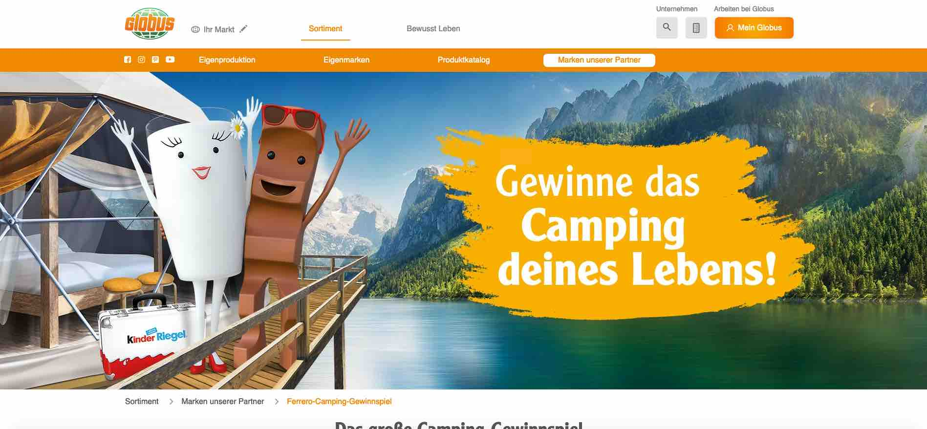 Camping Gewinnspiel