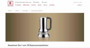 kaufland Espressomaschinen gewinnspiel