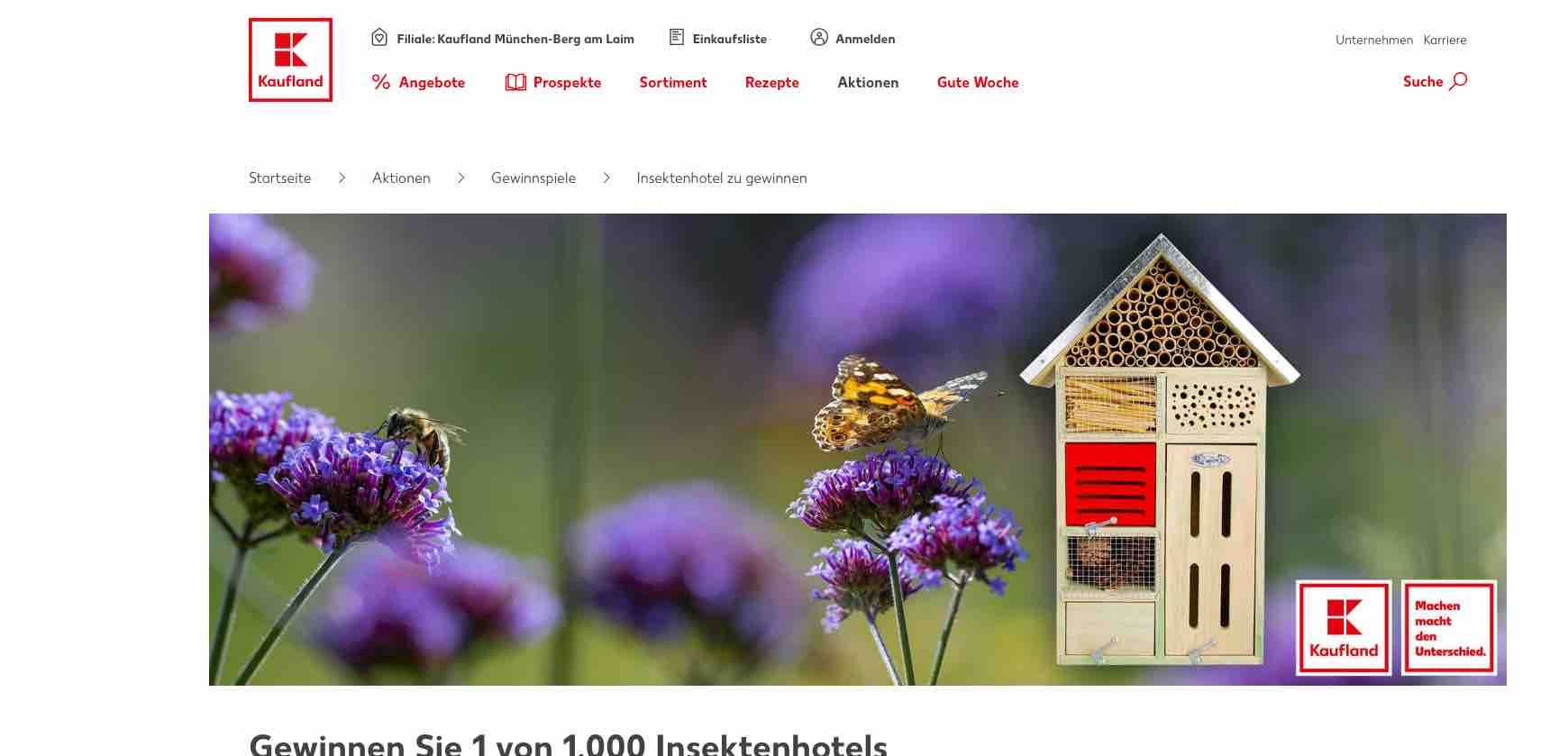 kaufland insektenhotel gewinnspiel