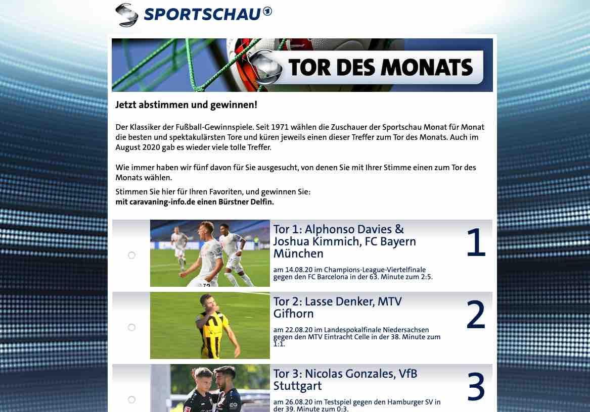 Www.Sportschau Tor Des Monats