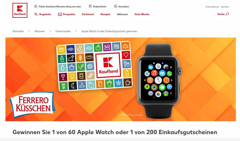 kaufland apple-watch gewinnspiel