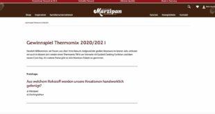 marzipan thermomix TM6 Gewinnspiel