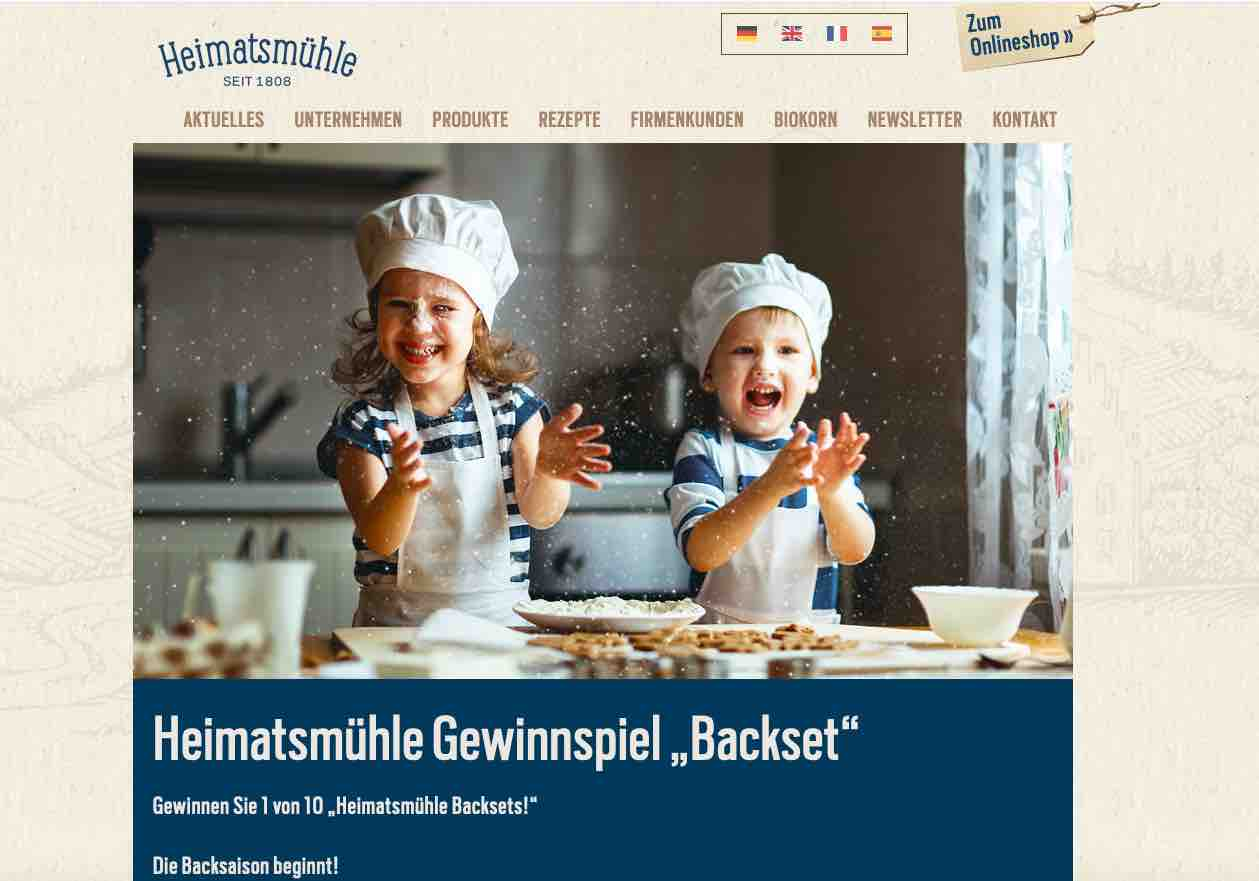 heimatmühle backset gewinnspiel