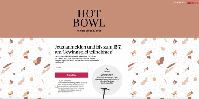 hotbowl scooter gewinnspiel